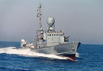 Missile boat - Image: Schnellboot Gepard Klasse Typ 143 A