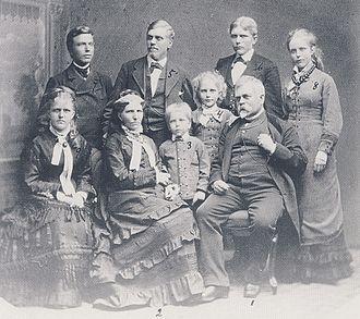 Sven Scholander - Architect Fredrik Wilhelm Scholander and family 1875
