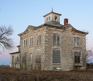 Saunders County, Nebraska - Historic schoolhouse in Saunders County