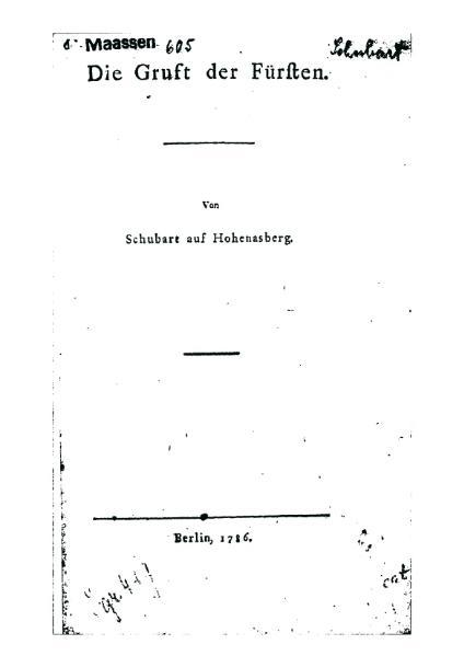 File:Schubart Die Gruft der Fuersten.djvu