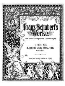Winterreise, from Series XX, Volume 9 of Franz Schubert's Werke, edited by Eusebius Mandyczewski (Source: Wikimedia)