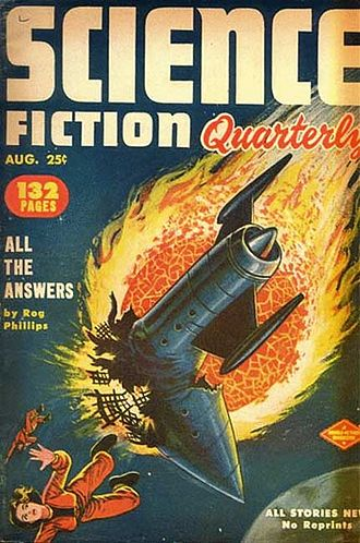 "Ed McBain - Hunter's ""Silent Partner"" was the cover story on the August 1952 issue of Science Fiction Quarterly, credited to S. A. Lombino"