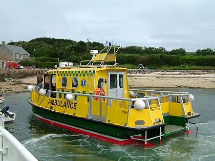 The Star of Life ambulance boat serves the Scilly Isles