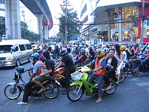 Environmental issues in Thailand - Motorbikes, Nana intersection, Bangkok