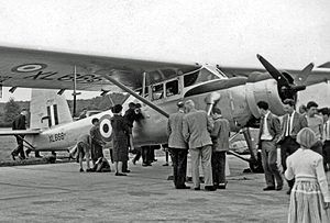 Scottish Aviation Pioneer - RAF Pioneer CC.1 exhibited at the 1957 Farnborough Air Show