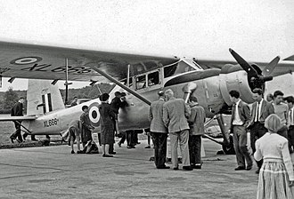 Scottish Aviation Pioneer - RAF Pioneer CC.1 exhibited at the 1957 Farnborough Air Show