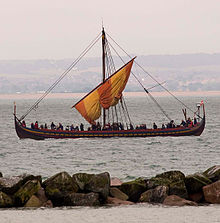 Photograph of a Viking ship replica