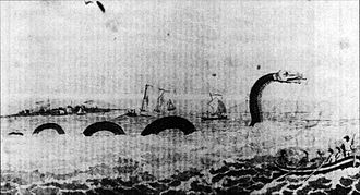 Sea serpent - The first American sea serpent, reported from Cape Ann, Massachusetts, in 1639
