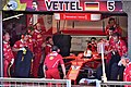 Sebastian Vettel exits the pit (34655052644).jpg