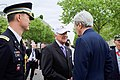Secretary Kerry Chats With D-Day Veteran Before 70th Anniversary VE Day Commemoration in Paris (17421254671).jpg