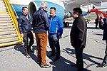 Secretary Kerry Speaks with Greenlandic Premier Kim Kielsen After he and Danish Foreign Minister Jensen arrived at Kangerlussuaq International Airport (27144505283).jpg