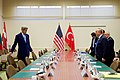 Secretary Kerry and Turkish Foreign Minister Çavuşoğlu Sit Down for Their Meeting at NATO Headquarters in Brussels (30654755323).jpg