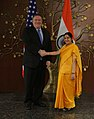 Secretary Pompeo Meets with Indian Minister of External Affairs Swaraj at the U.S.-India 2+2 Dialogue (43598827155).jpg