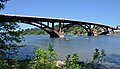 Sellwood Bridge on a warm day with kayakers on river, July 2017.jpg