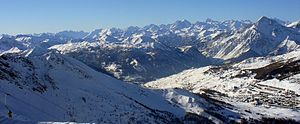 Sestriere - Image: Sestriere panorama