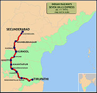 Seven Hills Express (Secunderabad - Tirupathi) Route map.jpg