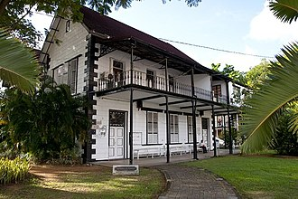 History of Seychelles - The Seychelles Natural History Museum in Victoria, Seychelles, the former Supreme Court building.