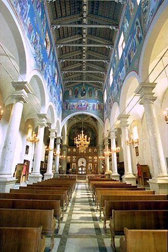 Eparchy of Piana degli Albanesi - Interior of the Cathedral of San Demetrio Megalomartire