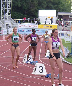 Perri Shakes-Drayton - Shakes-Drayton (lane 2) at the 2010 Josef Odložil Memorial in Prague where she finished second in 55.28 s.