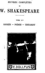 Œuvres complètes de W. Shakespeare, tome XV