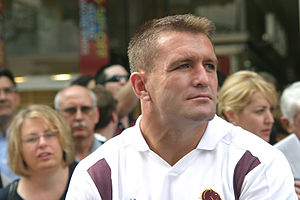 Shane Webcke - Webcke at Brisbane's post-2006 NRL grand final celebration parade.