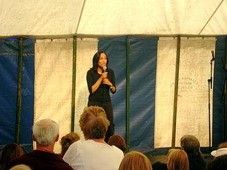 British Asian - Shazia Mirza is a popular British comedian.