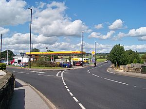 The Shell Filling Station on the junction of t...
