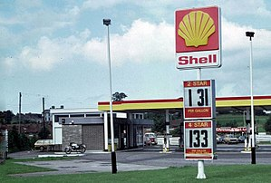 Gallon - Image: Shell petrol station in the UK