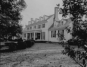 Sherwood Forest Plantation - Sherwood Forest in 1961, Front Elevation   (photo by United States Department of the Interior)