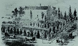 Mount Carroll Seminary - Earliest known drawing of the Seminary, from 1867.