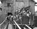 Shingle mill crew and bundles of shingles, Saginaw Timber Company, ca 1923 (KINSEY 517).jpeg