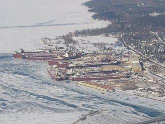 Bay Shipbuilding Company - Lakers wintering over at Bay Shipbuilding, 2006