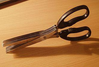 Paper shredder - Multi-cut scissors used to shred paper