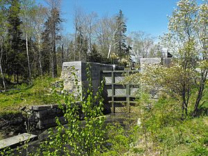 Shubenacadie Canal - Partially restored lock