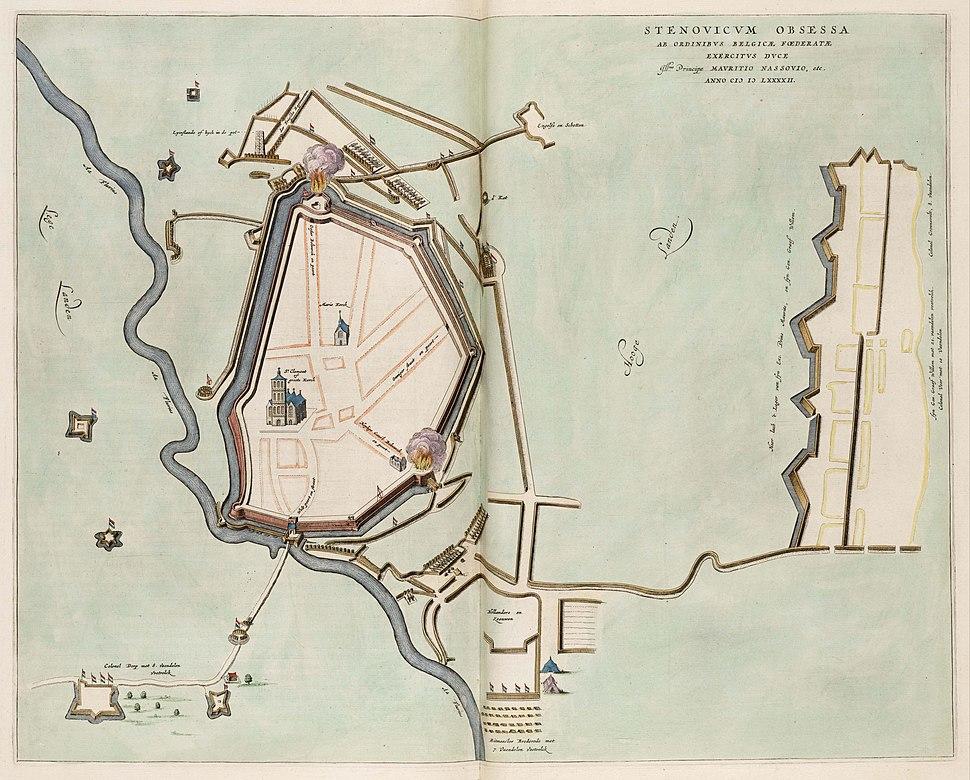 Siege of Steenwijk by Maurice of Orange (1592) - Stenovicium Obsessa