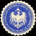 Siegelmarke Kaiserliche Universitäts und Landes - Bibliothek - Strassburg i. E. W0204651.jpg