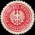 Siegelmarke Koenigliches Gymnasium Roessel W0311280.jpg