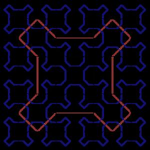 Sierpiński curve - Sierpiński curves of orders 1 to 3
