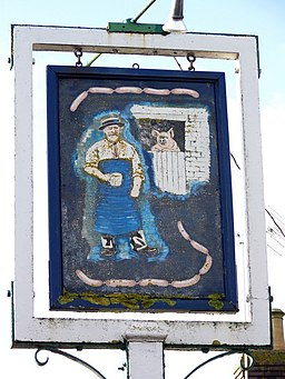 Sign for the Butchers Arms - geograph.org.uk - 1670337
