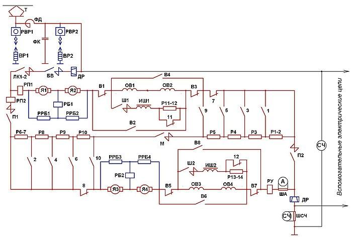 схема блока управления abs lanos