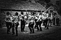 Silurian Border Morris Men dancing Black Ladies Aston, August 2013.jpg