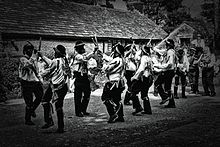 silurian border morris men dancing black ladies aston
