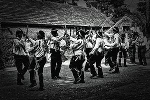 Border Morris - Silurian Border Morris Men dancing Black Ladies Aston