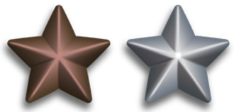 Inherent Resolve Campaign Medal - Image: Silver and Bronze Service Stars