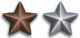 Service star - nastrino per uniforme ordinaria