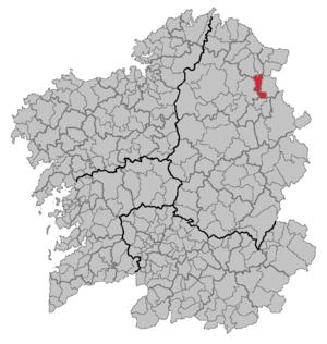 Riotorto - Situation of Riotorto within Galicia