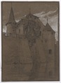 Skiss på Schloss Hallwyl av Gustav Clason, 1913 - Hallwylska museet - 102213.tif