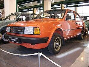Škoda Rapid (1984) - Image: Skoda Rapid 135 museum