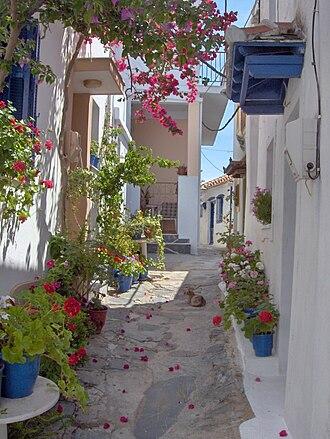 Skopelos - Traditional narrow streets of the island.