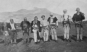 Shkreli (tribe) - Image: Skreli Tribesmen (W Le Queux)